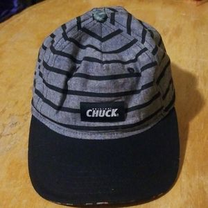 Orginal Chuck gray and black striped cap hat
